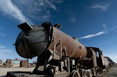 Uyuni train cementery - stock photo
