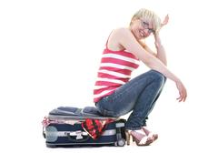 Stock Photo of woman with travel bag
