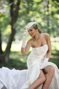 Stock Photo of beautiful bride outdoor