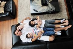 Stock Photo of young family at home