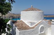 The church of Panagia, Lindos, Rhodes, Greece Stock Photos
