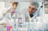 Science people in bright lab Stock Photos