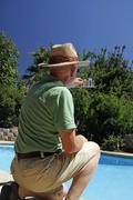 Pool Maintenance - stock photo