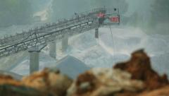 Machines work at a stone quarry 5 Stock Footage