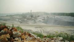 Machines work at a stone quarry 3 Stock Footage