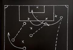 soccer game strategy - stock photo