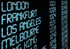Departure timetable Stock Photos