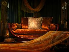 vintage sofa - stock photo