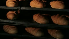 Ready bread products cools after oven 2 - stock footage