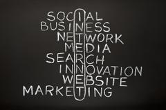 Internet concept on blackboard Stock Photos