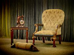 vintage armchair - stock photo