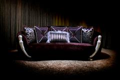 Lilac couch Stock Photos
