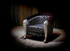 lilac armchair - stock photo