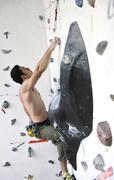 Man exercise sport climbing Stock Photos