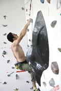 man exercise sport climbing - stock photo