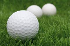 golf balls. - stock photo
