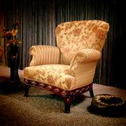 vintage armchair - stock photo