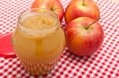 apple jam - stock photo