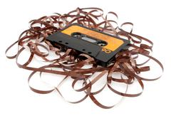 Retro audio cassette tape Stock Photos