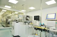 Stock Photo of medical factory and production indoor
