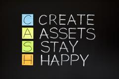 cash acronym - stock photo