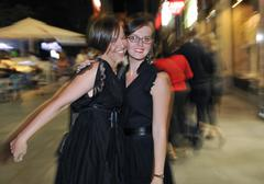 nightlife lady - stock photo