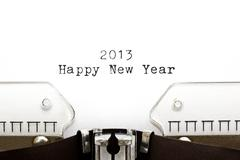 typewriter 2013 happy new year - stock photo