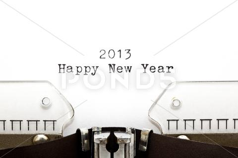 Stock photo of typewriter 2013 happy new year
