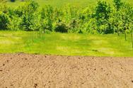 Rural field farming Stock Photos
