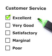 customer service evaluation - stock photo