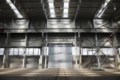 Big industry garage door Stock Photos
