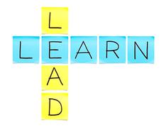 Learn-lead crossword Stock Photos