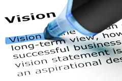 Vision highlighted in blue Stock Photos