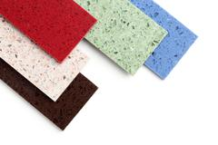 color stone samples - stock photo