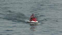 Jetski With 2 People - Full HD Stock Footage