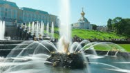 Stock Video Footage of Samson Fountain, St. Petersburg, Russia. Timelapse, zoom in.