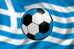 Soccer in Greece Stock Illustration