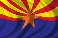 Stock Illustration of Flag of Arizona