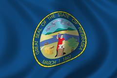 Flag of Nebraska - stock illustration