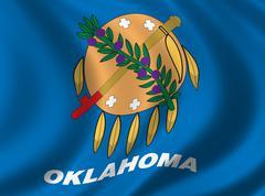 Flag of Oklahoma - stock illustration