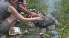 Grilled pork steak Stock Footage