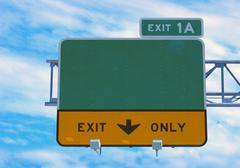 Highway sign Stock Photos