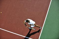 Stock Photo of young man play tennis