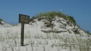 Keep Off The Dunes! Stock Footage