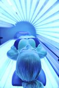 beauty and spa solarium treatment - stock photo