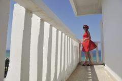 Woman travel fashion Stock Photos
