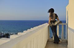 woman travel fashion - stock photo