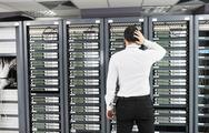 Stock Photo of system fail situation in network server room