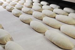 Stock Photo of bread factory production