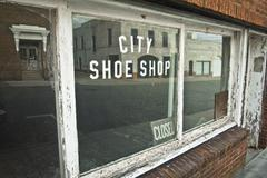 Stock Photo of lexington, nc, shoe shop